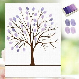 Thumbprint Fingerprint Tree Wedding Guest Book Wedding Gifts Canvas Painting