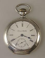 Large 3oz Coin Silver HAMPDEN Pocket Watch w/ Fancy Case c1899