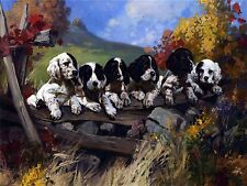 Dogs and puppies on fence Accent Tile Mural Kitchen Wall Backsplash Ceramic 8x6