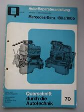 Auto-Reparaturanleitung mit Maß- Einstelltabelle  Nr. 70 Mercedes-Benz 180a / 18