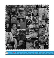 Burt Reynolds B&W Celeb Montage Fabric 21 Variations Price Per Metre LSFABRIC149