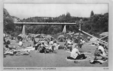 JOHNSON'S BEACH Guerneville, CA Russian River Sonoma Co. 1955 Vintage Postcard