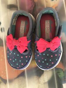 Skechers Bitty Bow Star Memory Foam Shoes Size 3 Infant