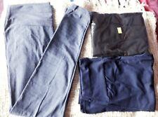 3 Prs High Waisted Leggings Black, Navy & Denim Look  Size 16 New
