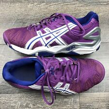 Asics Womens Gel Resolution 5 Purple Blue White Tennis Shoes Size 7.5