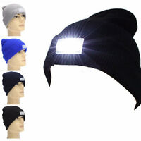 5-LED Light Cap Beanie Hat with 2 Batteries for Hunting Camping Running Fishing