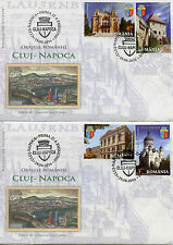 Romania 2016 FDC Cities Cluj-Napoca 4v Set on 2 Covers Universities Stamps