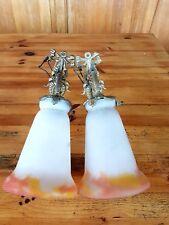2 apliques avec tulipe pate de verre croismare no muller no daum