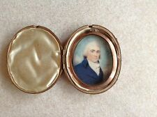 Superb Georgian Miniature Portrait Of A Distinguished English Gentleman