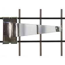 Case of 8 New Retails Chrome Finished Gridwall Shelf Bracket 14 Inch