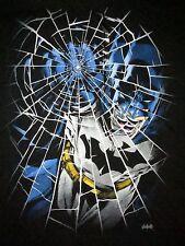 Batman Shattered Glass T Shirt Sz L Super Hero Dark Knight DC Comics Justice