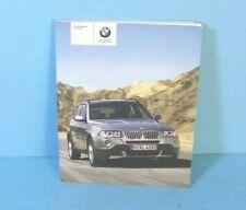 09 2009 BMW X3/X3 28i/X3 30i owners manual