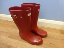 GENUINE HUNTER RED WELLINGTON BOOTS UK3 EU 35/36