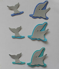 6 PREMADE DOLPHIN QUICKUTZ SCRAPBOOK DIE CUTS! -SEA WORLD BEACH OCEAN AQUARIUM