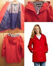 NWT Lands End Womens Classic Hooded Lined Rain Coat L 14-16