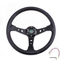 "MUGE-13.5"" Universal Drifting Racing Steering Wheel  Aluminum 9.5cm Deep Dish"