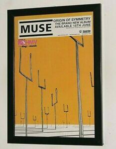MUSE Framed A4 2001 `origin of symmetry` ALBUM Original band promo ART poster