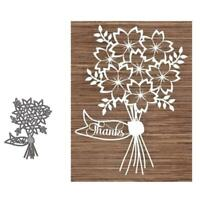 Bouquet Metal Cutting Dies Stencil DIY Scrapbooking Embossing Paper Card Craft