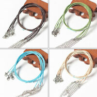 18 inch 50PCS Waxed Assorted Colors Adjustable Necklace Cord Line String 1.5mm