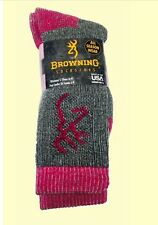 NWT Womens Browning   Wool Blend Boot Sock Size Medium 6-9. Fast shipping