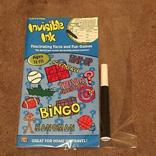 Yes & Know Invisible Ink Fascinating Facts and Fun Games w/Special Maker