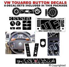 VW Touareg Radio A/C Hazard Steering Wheel Window Button Ride Level Decals