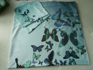 TED BAKER Butterfly KING Size DUVET COVER 100% Cotton Sateen 220Thread Count