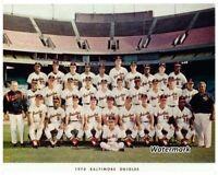 MLB 1970 Baltimore Orioles Color Team Picture 8 X 10 Photo Picture