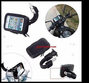PORTA CELLULARE SUPPORTO DA MOTO SCOOTER IMPERMEABILE WATERPROOF IPHONE ANDROID