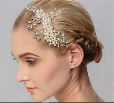 cristal peigne à Cheveux Perles Accessoires de mariage strass Nuptial coiffe