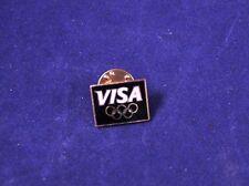 "Very Nice 3/4"" Miniature Visa Sponsor Olympic Games Hat Lapel Pin"