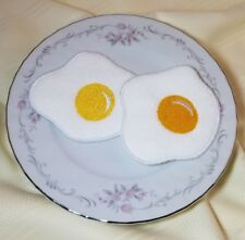 Felt pretend play food - SET of 2 EGGS - embroidery - handmade NEW