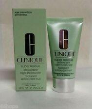 clinique super rescue antioxidant night moisturizer combination oily 1.7oz nib