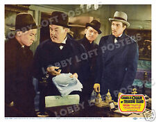 CHARLIE CHAN AT TREASURE ISLAND LOBBY SCENE CARD POSTER 1939 SIDNEY TOLER