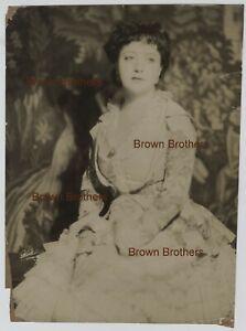 "1927 Helen Morgan Ziegfeld Follies ""Show Boat"" Black Cast Oversized Photo White"