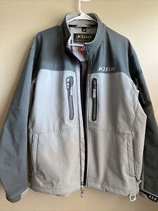 KLIM INVERSION jacket WINDSTOPPER  Soft Shell  size XL X-large  gray EUC vented