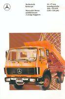 Mercedes 2-assige kippers 14-17 t Prospekt NL 4/89 truck brochure Lkw Lastwagen
