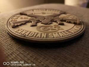 """PVC Canadian Small Arms """"COLT"""" patch True North Strong!"""