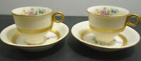 VINTAGE THEODORE HAVILAND NEW YORK GAINSBOROUGH FOOTED CUP + SAUCER LOT OF 4