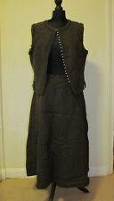 Vintage 1970s Anna Roose Woollen Skirt/Waistcoat Suit - Dark Chocolate - Sz 18