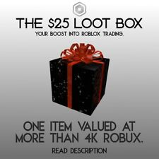 ROBLOX Limited - $25 Loot Box - Well known, clean item - Ships fast, and Secure