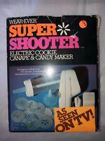 VINTAGE WEAR-EVER SUPER SHOOTER ELECTRIC COOKIE PRESS NOT TESTED Marked Rebuilt