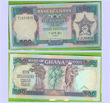 BANQUE DU GHANA BILLET DE FIVE HUNDRED CEDIS  REF : WPM 28 b