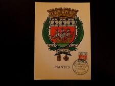 FRANCE PREMIER JOUR FDC YVERT 1185     ARMOIRIES  NANTES     3F    NANTES   1958