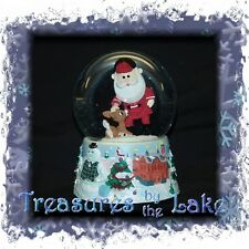 Rudolph Red Nose Santa Christmas Snow Globe Snowglobe