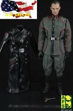 "1/6 Scale Red Skull leather coat suit Costume Set for Hot Toys 12"" Figure ❶USA❶"