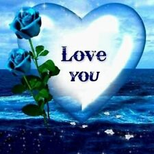 DIY 5D Diamond Painting Full drill Embroidery Kits Blue Rose LOVE YOU