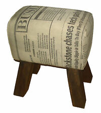 Canvas Cotton Western Style Stool Pair (Set of 2)