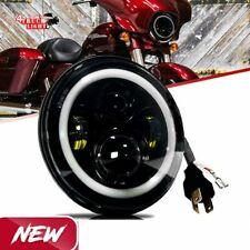 "75W 7"" inch LED Projector Headlight for Honda Kawasaki Motorcycle Yamaha AU"
