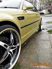 BMW E46 pasos del lado Brillo Lado Falda extensiones Aero Racing Performance v8